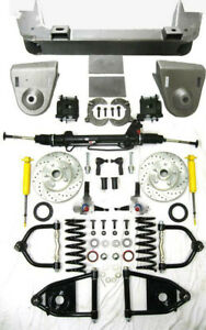1936 48 Chevy Car Mustang Ii Power Front End Suspension Kit Stock Slotted Rotors