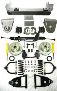 1936 1948 Chevy Car Mustang Ii Power Front End Suspension Kit 2 Drop Plain