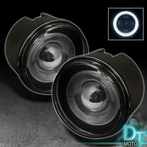 Smoked 2005 2010 Jeep Grand Cherokee Commander Dakota Halo Projector Fog Lights