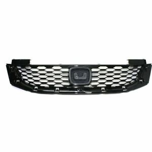 Grille Assembly For 2013 2015 Honda Accord Coupe Black W Emblem Provision