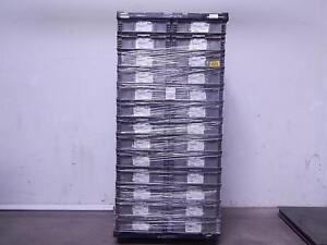 Pallet Of 52 Orbis Nso2422 7 Commercial Straight wall Modular Containers Bins 24