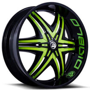 22 Diablo Wheels Elite Custom Color Rims