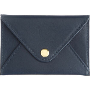Royce Leather Genuine Leather Envelope Card Case Blue Business Accessorie New