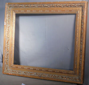 Vintage Modern 17 5x21 5 Massive Gilt Wood Picture Frame Baroque Carved Taiwan