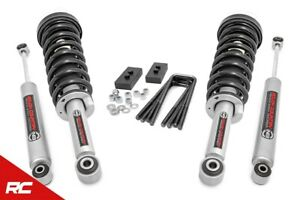 Rough Country 50004 2 inch Leveling Kit Struts Shocks For 09 13 Ford F 150