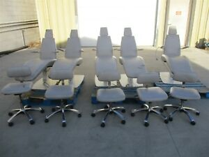 Royal Operatory Package Lot Of 5 Ortho Exam Ortho Chairs W Matching Stools