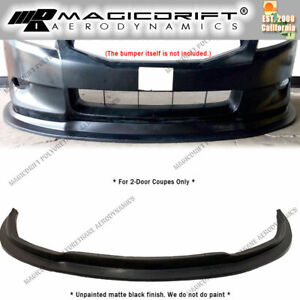 For 08 09 10 Honda Accord 2 door Coupes Mda Style Front Bumper Splitter Lip Jdm