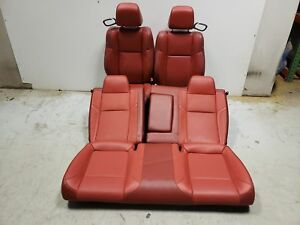 2017 Dodge Challenger Gt Seats Front Rear Left Right Red Leather Oem