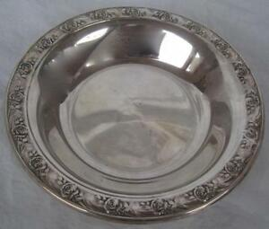 Reed Barton Classic Rose Design Bon Bon Candy Dish Bowl Silverplate 6 5