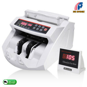 Money Counter With Uv mg Counterfeit Bill Detection Plus External Display New Us