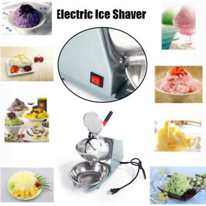 200w Electric Ice Crusher Shaver Machine Snow Cone Maker Stainless Steel Bowl