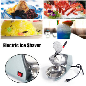 200w Ice Shaver Machine Electric Snow Cone Maker Shaving Crusher Parties Events
