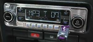 Vintage 60 s Look Am Fm Car Stereo Radio Ipod Usb Cd Bluetooth Classic Style