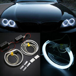4pcs 131mm Led Ccfl Angel Eyes Halo Rings Lights Lamp For Bmw E36 E39 E46 White