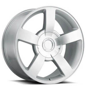 22 Chevy 1500 Ss Truck Wheels Silver Oem Replica Fs