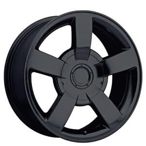 22 Chevy 1500 Ss Truck Wheels Gloss Black Oem Replica Fs