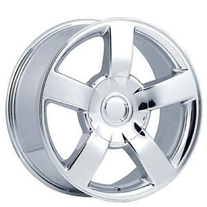 22 Chevy 1500 Ss Truck Wheels Chrome Oem Replica Fs