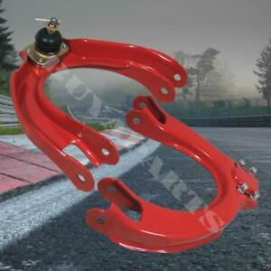 For Acura Integra 1990 1993 Da Adustable Front Upper Control Arm Camber Kit Red