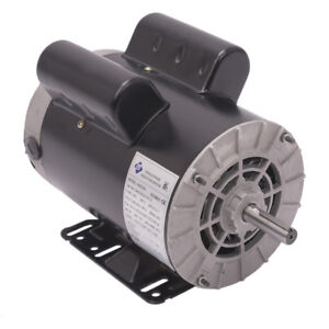 5 Hp Compressor Duty Electric Motor 1 Phase 3450 Rpm 56 Frame Shaft 230v 60 Hz