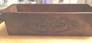 Vintage Treadle Sewing Machine Drawer With Ornate Front And Side Wooden