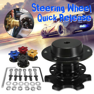 Universal 2 6 Hole Bolt Steering Wheel Quick Release Hub Adapter Snap Off Boss