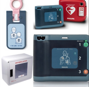 Philips Heartstart Frx Aed Defibrillator Rescue Package Cabinet And Infant Key
