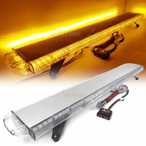 Rooftop 55 Led Warning Emergency Beacon Strobe Light Bar Amber 104w Auto Truck