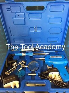 Sale Electrical Soldering Kit Set 30w Iron 100w Gun Solder Stand Tool Case