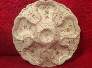 Oyster Plate Gorgeous Antique Victorian Austria Oyster Plate C 1876 1889 Op317