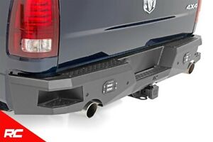 Rough Country Heavy Duty Rear Bumper W Led Cubes Fits 2009 2018 Dodge Ram 1500