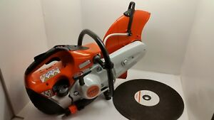 Stihl Ts420 Concrete Cut Off Saw Water Kit 14 Metal Cutoff Blade Free Shipping
