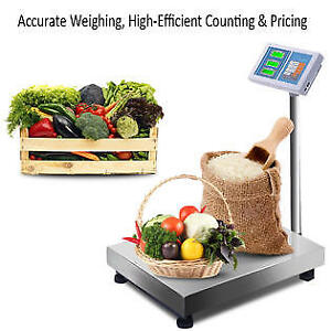 Costway 660lbs Weight Computing Digital Floor Platform Scale Postal Shipping Mai