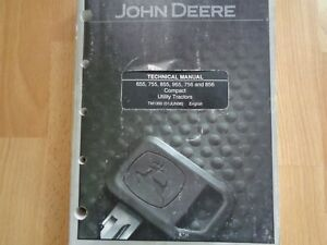 John Deere 655 755 855 955 756 856 Tractor Technical Service Manual Tm1360 Oem