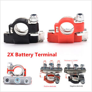 2pc Pure Copper Battery Terminal Heavy Duty Car Quick Connector Cable Clamp Clip