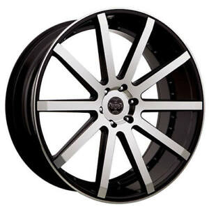24 Versante Wheels Ve232 Black Machined Rims Fs
