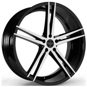 24 Versante Wheels Ve238 Black Machined 5 Lug Rims Fs