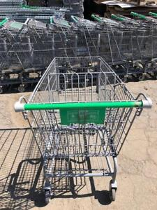 Shopping Carts Gray Metal Medium Large Used Grocery Discount Store Fixtures