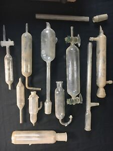 Antique Lot Chemistry Laboratory Glassware Equipment Glass Tubes Vials Beakers 4