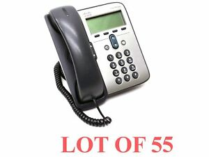 Lot 55 Cisco Cp 7911 Display Business Office Phone Voip Ip Telephone Handset