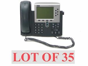 Lot 35 Cisco Cp 7960g 7900 Ip Voip Office Business Lcd Display Phone Telephone