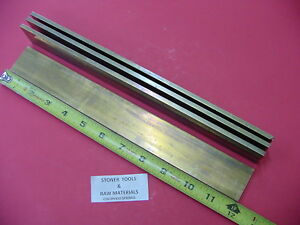 4 Pieces 1 4 X 1 1 2 C360 Brass Flat Bar 12 Long Solid Mill Stock H02 25