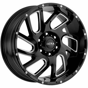 20x10 Black Milled Carnage 6x5 5 25 Wheels Country Hunter Mt 35 Tires