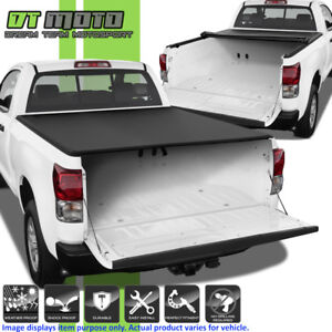 Premium Soft Roll Up Tonneau Cover For 2007 2018 Toyota Tundra 6 5ft 78 Bed