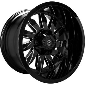 20x10 Black Milled Rbp 74r 8x6 5 12 Wheels Country Hunter Mt 35 Tires