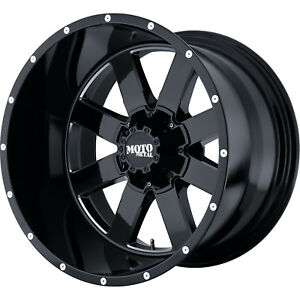 18x10 Black Mo962 6x5 5 24 Wheels Extreme Country Lt305 70r18 Tires