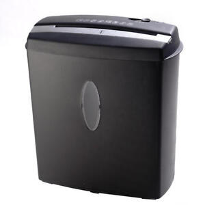 Goplus New 10 Sheet Cross cut Paper credit Card staples Shredder W Basket Home