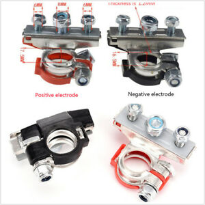 2pcs set Car Suv Heavy Duty Battery Terminal 3 Ways Cable Clamp Quick Connector