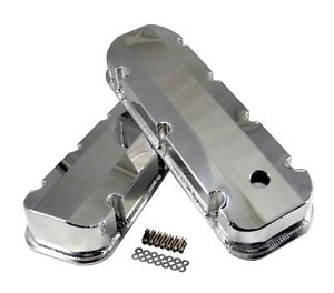 Big Block Chevy Polished Aluminum Fabricated Valve Covers 396 402 427 454