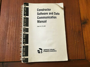 Spectra Precision Constructor Software And Data Communication Manual Surveying