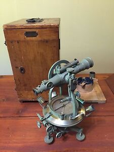 Antique Kern Aarau Compass Theodolite Swiss Made